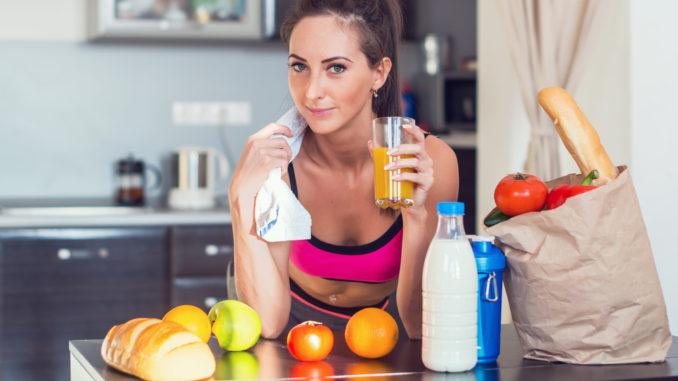 mad og træning