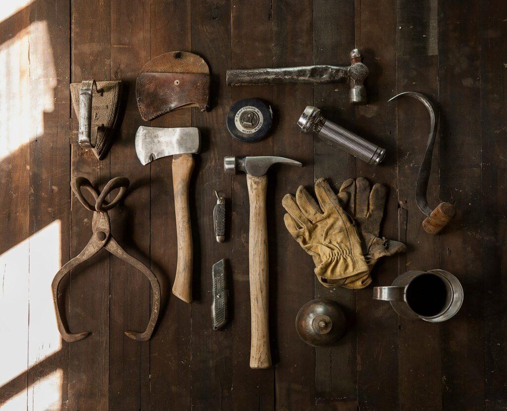 Værktøj på bord