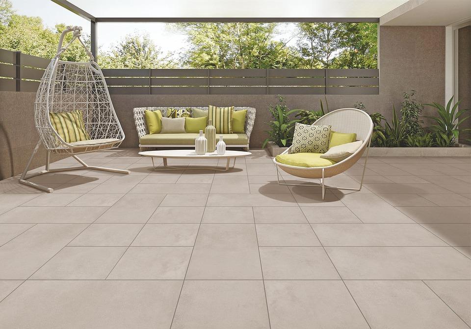 have, udenfor, møbler, sol, lyst, interiør, indretning